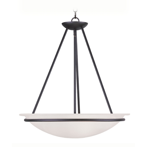 Livex Lighting Livex Lighting Newburgh Black Pendant Light with Bowl / Dome Shade 4826-04