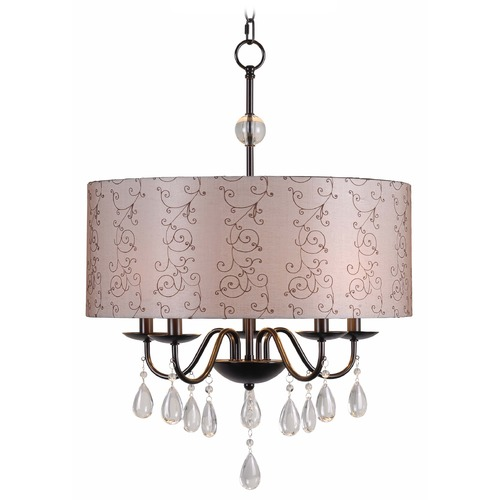 Kenroy Home Lighting Kenroy Home Lighting Arpeggio Oil Rubbed Bronze Pendant Light with Drum Shade 91735ORB