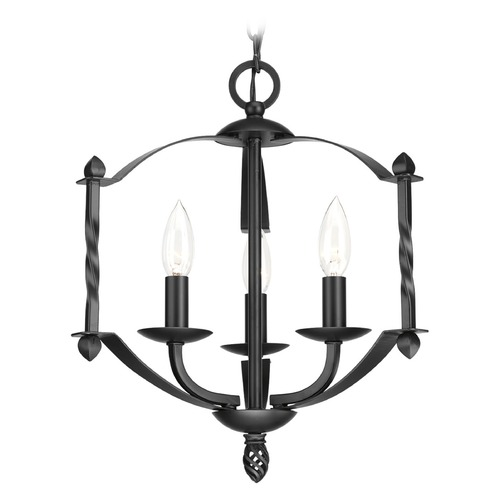 Progress Lighting Progress Lighting Greyson Black Mini-Chandelier P4709-31