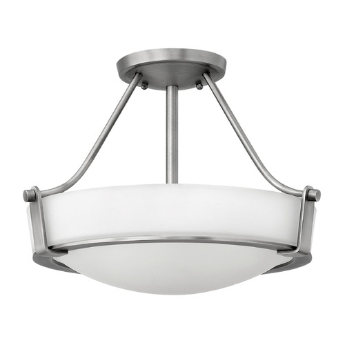 Hinkley Lighting Hinkley Lighting Hathaway Antique Nickel Semi-Flushmount Light 3220AN-GU24
