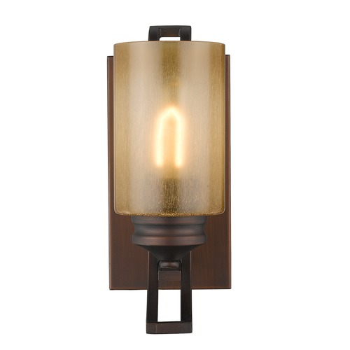 Golden Lighting Golden Lighting Hidalgo Sovereign Bronze Sconce 1051-BA1 SBZ