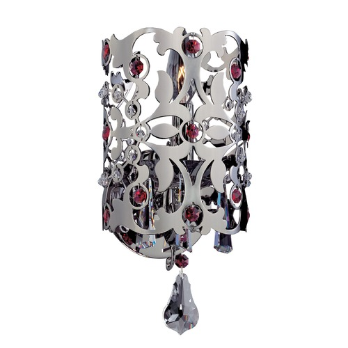 Allegri Lighting Bizet 1 Light Wall Bracket w/ Swarovski Elements Crystal w/ Black Pearl 10242-007-SE000