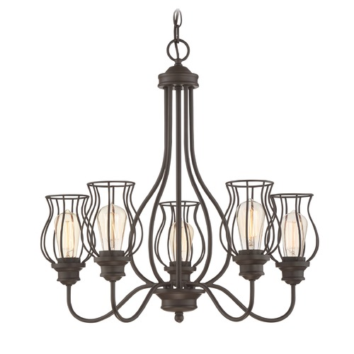Quoizel Lighting Quoizel Lighting Baroness Western Bronze Chandelier BNS5005WT