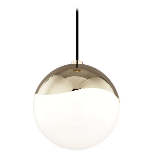 Hudson Valley Lighting Mid-Century Modern Pendant Light Brass Mitzi Ella by Hudson Valley H125701L-PB