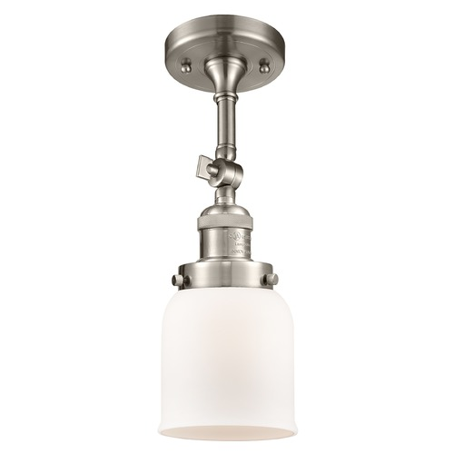 Innovations Lighting Innovations Lighting Small Bell Brushed Satin Nickel Semi-Flushmount Light 201F-SN-G51