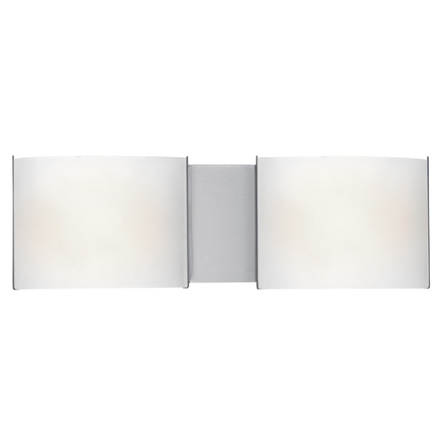Access Lighting Modern Bathroom Light with White Glass in Chrome Finish 62259-CH/FST