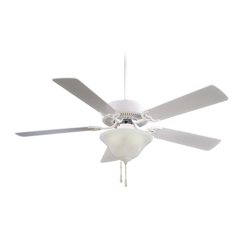 Minka Aire 52-Inch Ceiling Fan with Light with White Glass F648-WH