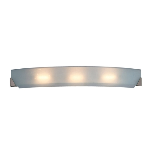 PLC Lighting Modern Bathroom Light with White Glass in Polished Chrome Finish 4444 PC