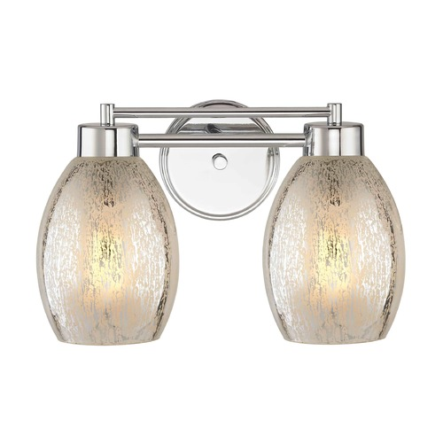Design Classics Lighting Mercury Glass Chrome Bathroom Light Chrome 702-26 GL1034-MER