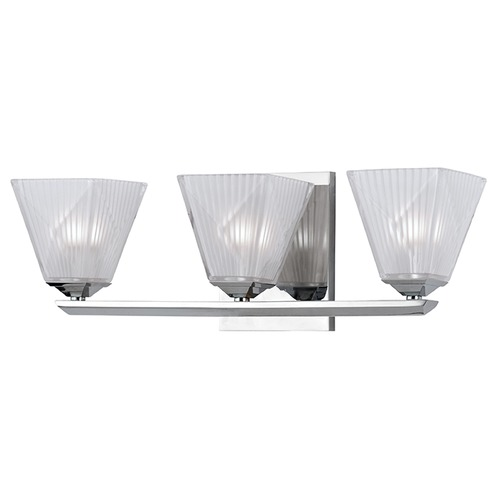 Hudson Valley Lighting Hammond 3 Light Bathroom Light Square Shade - Polished Chrome 2433-PC