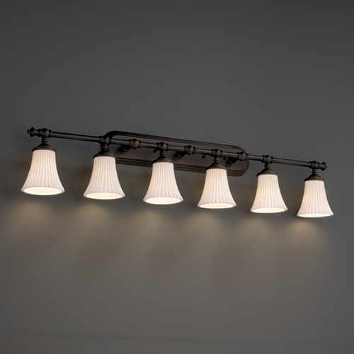 Justice Design Group Justice Design Group Limoges Collection Bathroom Light POR-8526-20-PLET-DBRZ