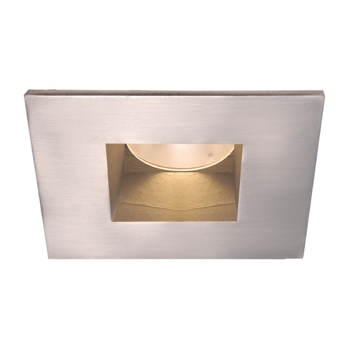 WAC Lighting WAC Lighting Square Brushed Nickel 2-Inch LED Recessed Trim 3000K 575LM 26 Degree HR-2LED-T709N-W-BN