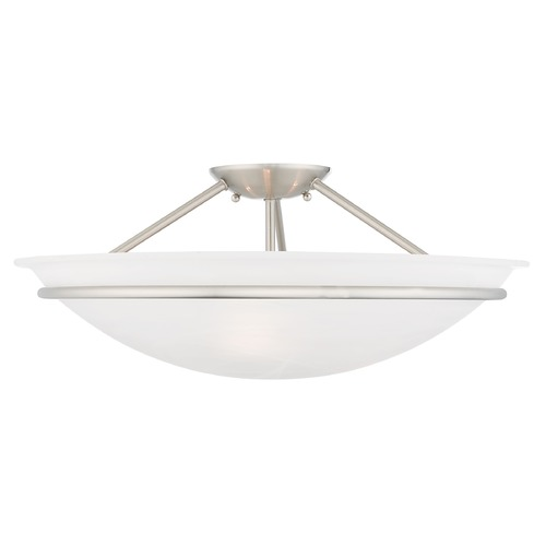 Livex Lighting Livex Lighting Newburgh Brushed Nickel Semi-Flushmount Light 4825-91