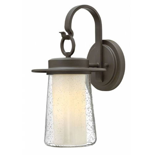 Hinkley Lighting Seeded Glass Outdoor Wall Light Oil Rubbed Bronze Hinkley Lighting 2010OZ