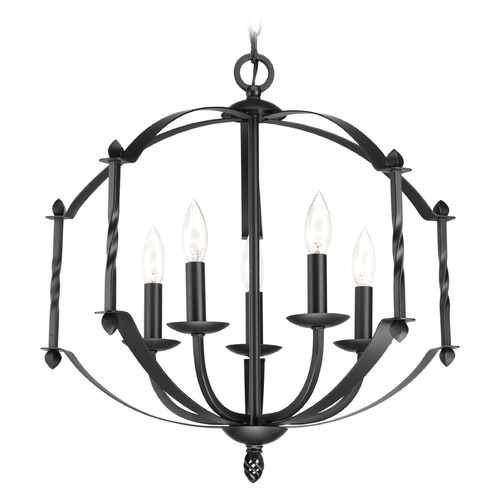 Progress Lighting Progress Lighting Greyson Black Chandelier P4710-31