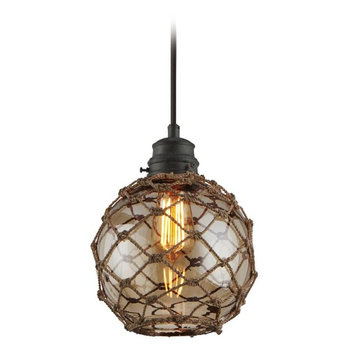 Troy Lighting Troy Lighting Outter Banks Shipyard Bronze Mini-Pendant Light with Globe Shade F4753