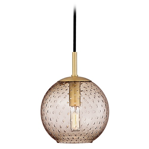 Hudson Valley Lighting Hudson Valley Lighting Rousseau Aged Brass Mini-Pendant Light with Globe Shade 2007-AGB-BZ