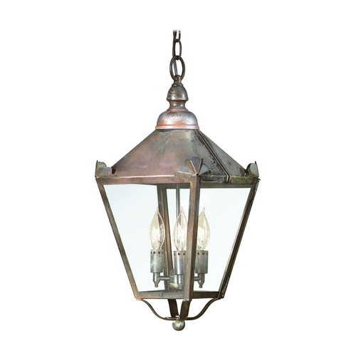 Troy Lighting Outdoor Hanging Light with Clear Glass in Natural Rust Finish F8945NR