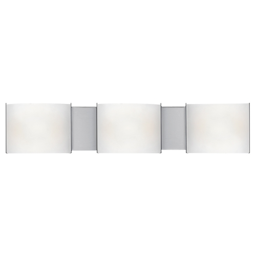 Access Lighting Modern Bathroom Light with White Glass in Chrome Finish 62260-CH/FST