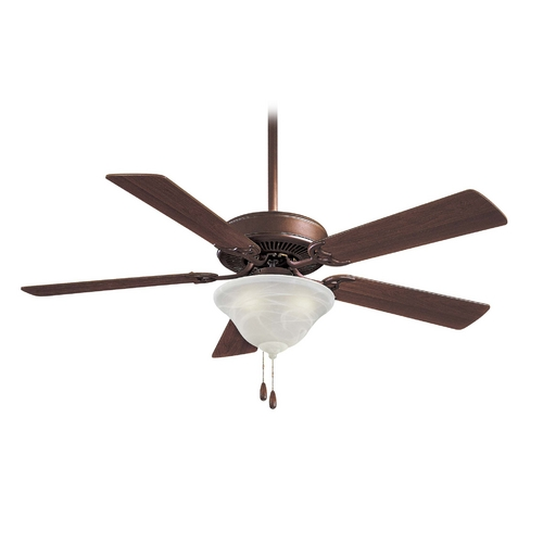 Minka Aire 52-Inch Ceiling Fan with Light with White Glass F648-ORB