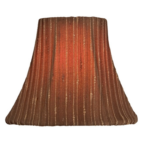 Lite Source Lighting Stripe Bell Lamp Shade with Clip-On Assembly CH5232-6