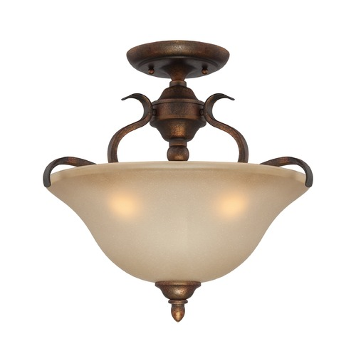 Jeremiah Lighting Jeremiah Mckinney Burleson Bronze Semi-Flushmount Light 29053-BBZ
