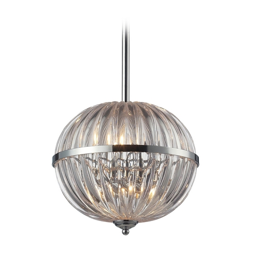 Elk Lighting Crystal Pendant Light in Polished Chrome Finish 31244/4
