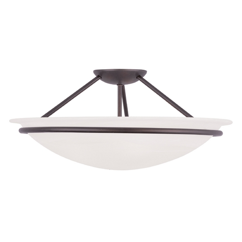 Livex Lighting Livex Lighting Newburgh Bronze Semi-Flushmount Light 4825-07