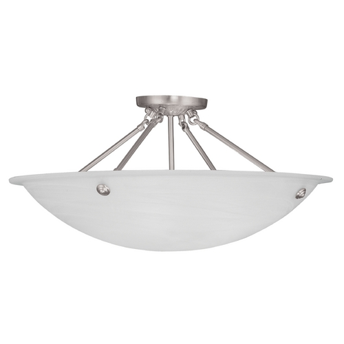 Livex Lighting Livex Lighting Oasis Brushed Nickel Semi-Flushmount Light 4275-91