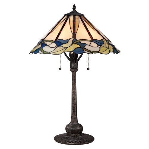 Quoizel Lighting Quoizel Tiffany Imperial Bronze Table Lamp with Conical Shade TF1848TIB