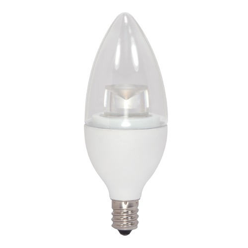 Satco Lighting LED Flame Light Bulb Candelabra Base 3000K - 40-Watt Equivalent Dimmable S8952