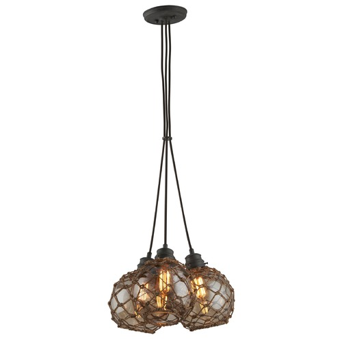 Troy Lighting Troy Lighting Outter Banks Shipyard Bronze Pendant Light with Globe Shade F4754