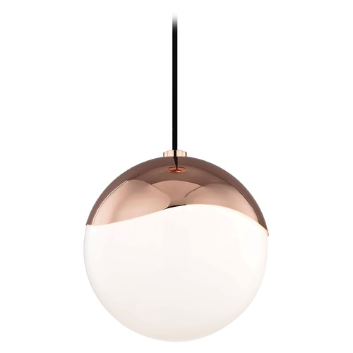Hudson Valley Lighting Mid-Century Modern Pendant Light Copper Mitzi Ella by Hudson Valley H125701L-POC
