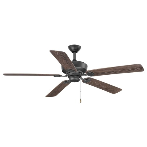 Progress Lighting Progress Lighting Lakehurst Forged Black Ceiling Fan Without Light P2562-80