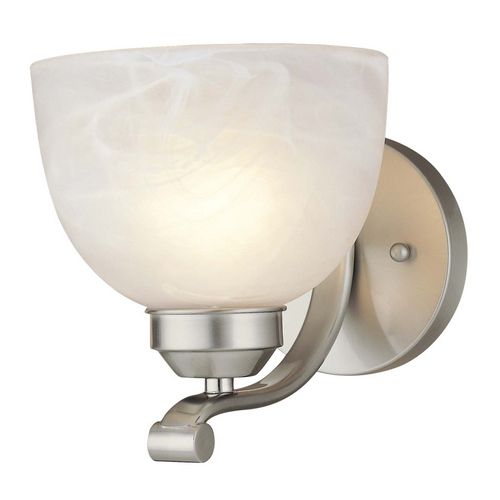 Minka Lighting Sconce in Brushed Nickel Finish - Etched Marble Glass 5421-84