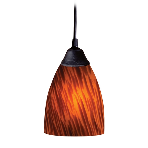 Elk Lighting Modern Mini-Pendant Light with Art Glass 406-1ES