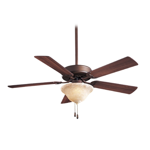 Minka Aire Ceiling Fan with Light with Beige / Cream Glass F648-ORB/EX