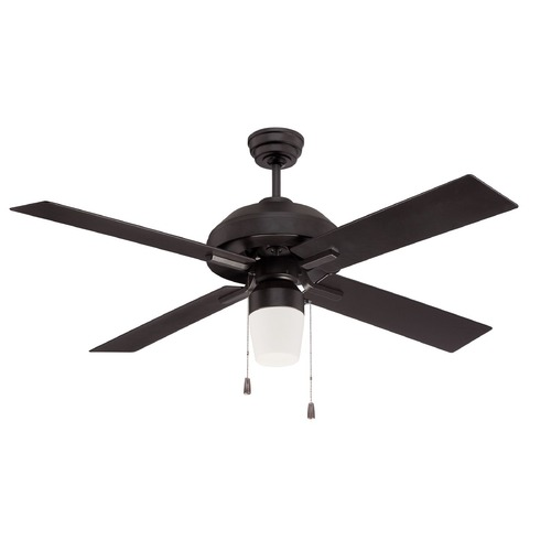 Craftmade Lighting Craftmade Lighting South Beach Flat Black Ceiling Fan with Light SB52FB4