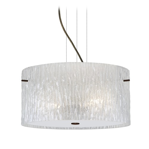 Besa Lighting Besa Lighting Tamburo Bronze Pendant Light with Drum Shade 1KV-4008GL-BR