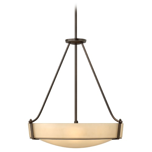 Hinkley Hinkley Hathaway Olde Bronze LED Pendant Light with Bowl / Dome Shade 3224OB-LED