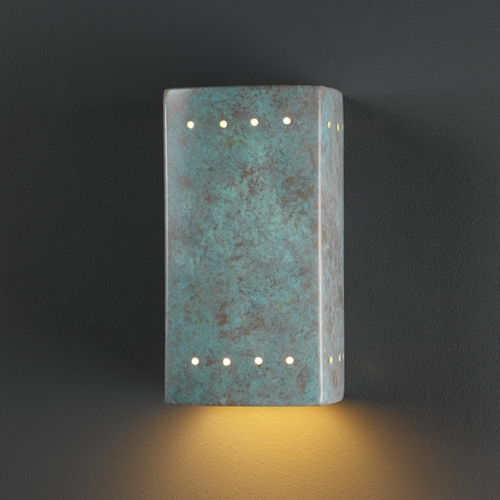 Justice Design Group Outdoor Wall Light in Verde Patina Finish CER-0920W-PATV