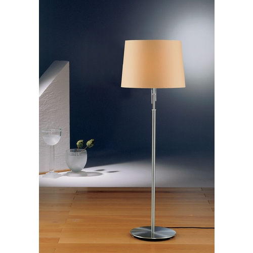Holtkoetter Lighting Holtkoetter Modern Floor Lamp with Beige / Cream Shades in Satin Nickel Finish 2545 SN KPRG