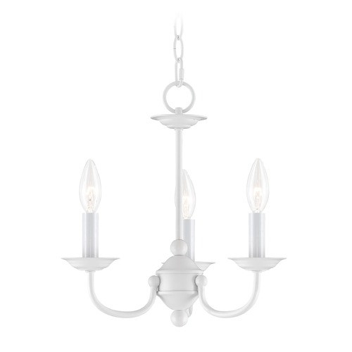 Livex Lighting Livex Lighting Home Basics White Mini-Chandelier 4153-03