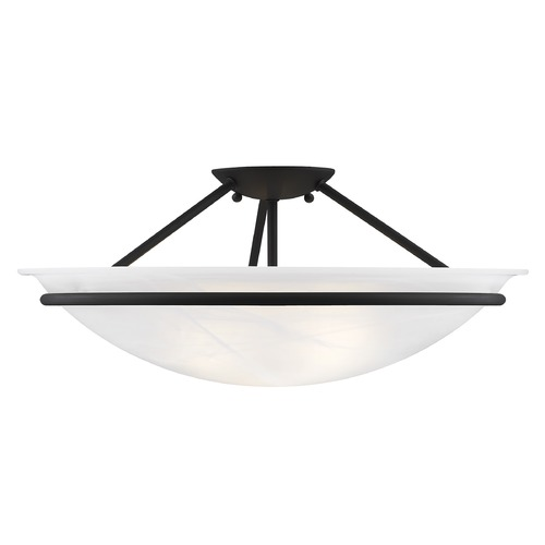 Livex Lighting Livex Lighting Newburgh Black Semi-Flushmount Light 4825-04