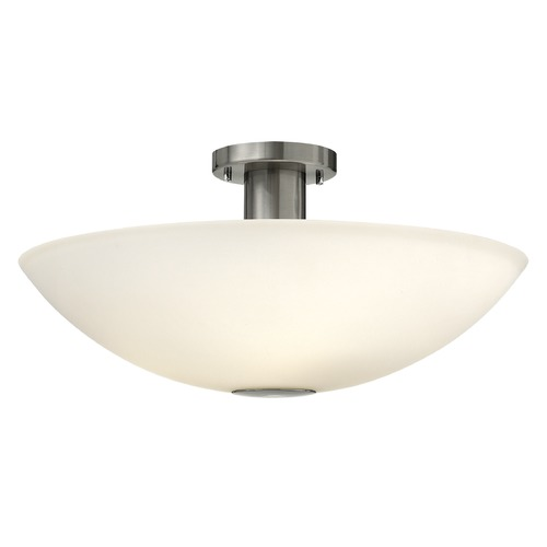 Hinkley Lighting Hinkley Lighting Camden Brushed Nickel Semi-Flushmount Light 3342BN-GU24