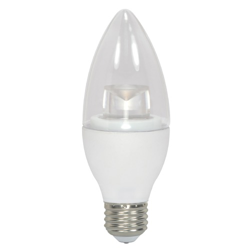 Satco Lighting LED Bulb Flame Medium Base 290 Degree Beam Spread 3000K 120V - 40-Watt Equivalent Dimmable S8953