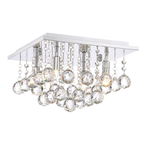 Quoizel Lighting Quoizel Lighting Bordeaux with Clear Crystal Polished Chrome Flushmount Light BRX1611C