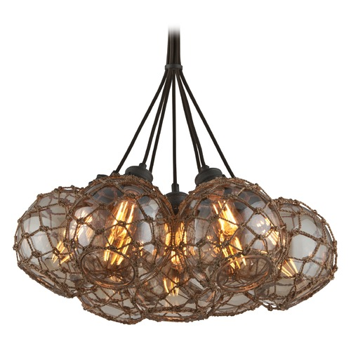 Troy Lighting Troy Lighting Outter Banks Shipyard Bronze Pendant Light with Globe Shade F4755