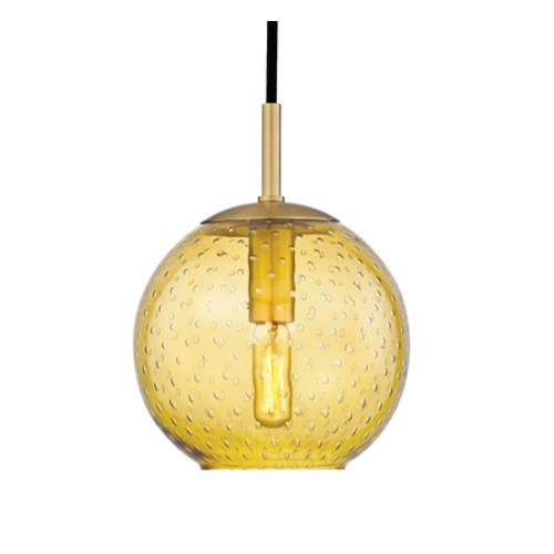 Hudson Valley Lighting Hudson Valley Lighting Rousseau Aged Brass Mini-Pendant Light with Globe Shade 2007-AGB-LA