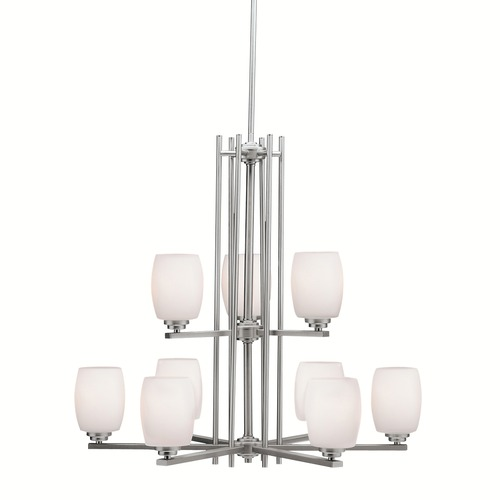 Kichler Lighting Kichler Lighting Eileen Brushed Nickel LED Chandelier 1897NIL16